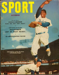 October 1952 Sport Magazine- Jackie Robinson Cover