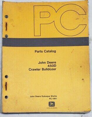 John Deere 450d Crawler Tractor Bull-dozer Parts Manual Book Catalog Pc-1891