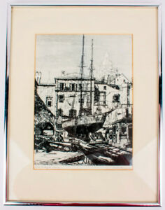 Original etching by Lionel Barrymore, signed in the lower right