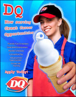 Dairy Queen Looking to hire Full time Day Drive thru employee!