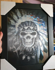 5D Indian skull picture NEW