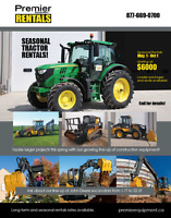 LOCAL AG EQUIPMENT RENTALS (COMPETITIVE AND FLEXIBLE PRICING!)