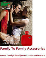 **NO TAX EVENT**:EAU DE LACOSTE L.12.12 ROUGE E.D.T-100ml