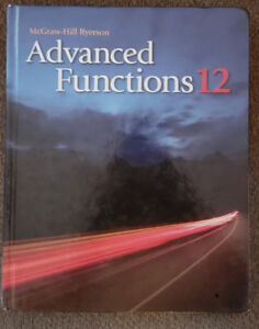 Advanced Functions (McGraw Hill) for Grade 12 in great condition