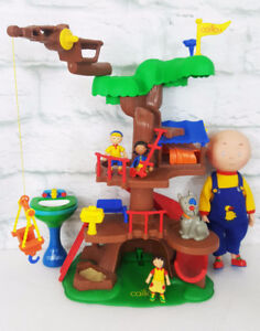 Caillou Treehouse Figurines Doll Gilbert Collection Lot