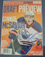 Connor McDavid -1st Signing with Oilers- Hockey News Preview COA