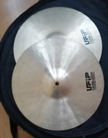"Ufip Hihats 14""cymbals, 20""Ride, 16""Crash"