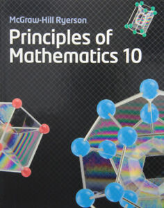 McGrawHill Ryerson Principles of Math 10 Textbook and ANSWERS