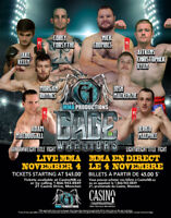 Live MMA at Casino NB - Nov. 4th