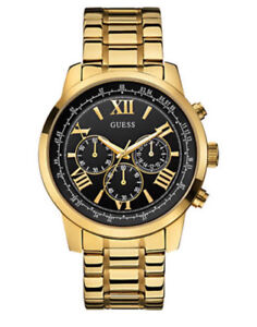 GUESS Men's Stainless Steel Gold Watch