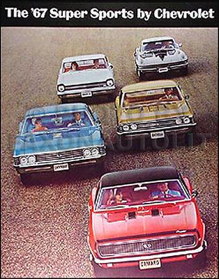 1967 Sales Brochure Impala SS Chevelle SS Nova SS Camaro SS Corvette 427 Catalog