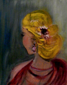 """""""Coiffure"""", oil painting"""
