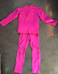 Thermal base layer top and bottom set for kid size 5/6