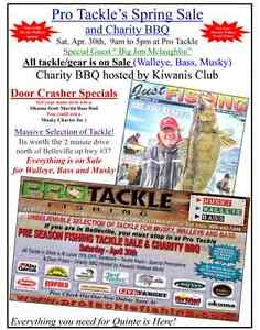 Sat April 30th Pro Tackle annual sale/charity BBQ