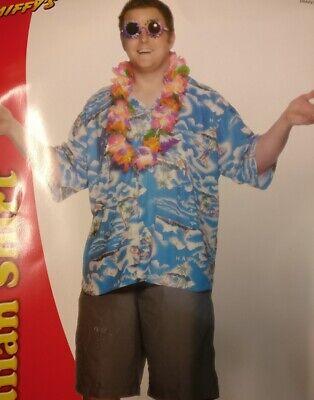 Tropical Hawaiian Shirt Fancy Dress Costume Plus Size 52 - 54