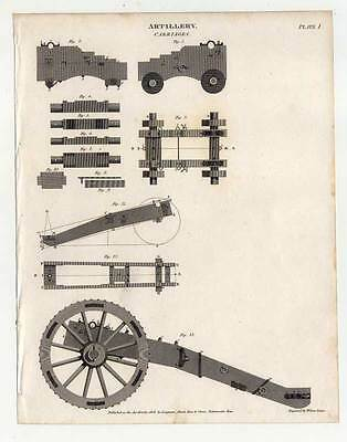 Militaria - Artillerie - Artillery - Kupferstich 1808