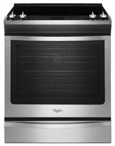 """Whirlpool YWEE760H0DS 30"""" Electric Range 6.2 cubic ft"""