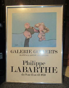 Philippe LaBarthe  April 1970 Gallery Poster with art screening