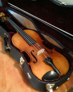 Viola made in Western Germany with bow and case.