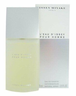 L'EAU D'ISSEY Pour Homme Issey Miyake 2.5 oz EDT Men Spray Cologne NEW 75 ml NIB