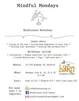 Mindfulness Workshops at The Barn in Meaford