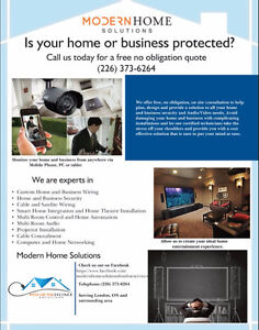 Home & Business Security, Home Theater, Audio/Video Installation Cambridge Kitchener Area image 7