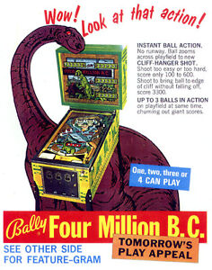 Bally Four Million B.C. Pinball machine à boules