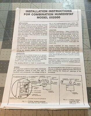 Auto-flo Humidistat Model 052000 Use W 4040s224d300707a 727 - 110 Volt