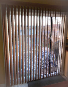 """**FREE BEIGY/BROWNISH PATIO VERTICAL BLINDS - 76"""" W, 82"""" L**"""