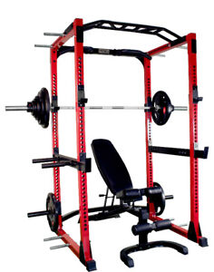 Squat Rack Package with Weights and Bench- New Shipping Include
