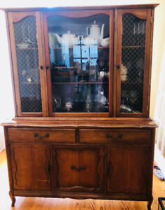 Knechtel Dining Room Hutch with Glass Doors