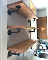 Looking for wood worker to make industrial pipe shelving.