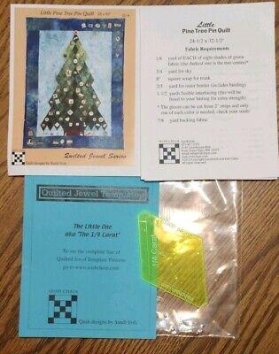 Sandi Irish Chain Little Pine Tree Pin Quilt Pattern & Jewel 1/4 Carat covid 19 (Chain Quilt Pattern coronavirus)