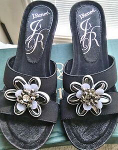 New with Box -  Black Wedge Sandal - Size 7M
