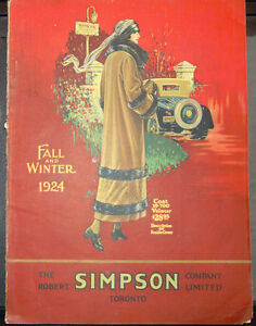 Simpson's Fall and Winter 1924 Catalogue