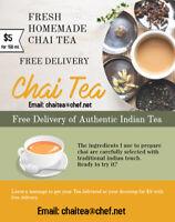 Freshly Brewed Homemade East Indian Tea at your doorstep