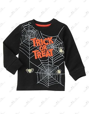 NWT Gymboree Happy Harvest Halloween Trick or Treat Glow in the Dark Tee/Shirt](Harvest Halloween)