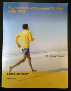 Foundations of Movement Studies KINE 1P93 Textbook