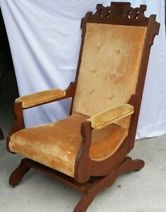 ANTIQUES**1 CHAIR AND 1 ROCKER