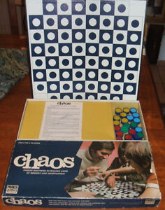 CHAOS by PARKER. VINTAGE 1970 BOARD GAME. THE INTRIGUING GAME