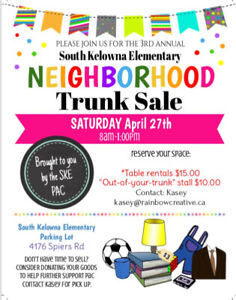 Community Trunk Sale! Hosted by South Kelowna Elementary