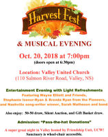 HarvestFest 2018 - A Musical Evening in Valley, NS