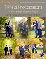 Photographer booking now for Fall Family Portraits
