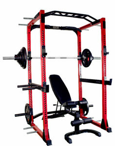 Power Rack / Rubber Weight Set & FID Bench - NEW IN BOX
