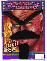 DEVIL   MUSTACHE, BEARD & BROW COSTUME ACCESSORY KIT](Devil Mustache)
