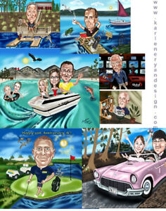 Retirement,Birthday,Wedding Custom Caricatures from Photos!