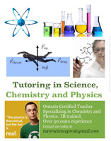 Tutor Physics, Chemistry, Science in Georgetown and Milton