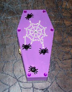 Handmade One of a Kind Halloween Gothic Coffin Boxes for Sale!