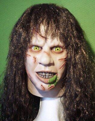 THE EXORCIST LATEX MASK Linda Blair Regan Costume Prop Cosplay Horror Halloween