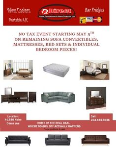 Sofa convertibles available now! Join us for the No Tax Event!